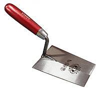 Кельма 140 мм трапециевидная закаленная сталь широкая деревянная ручка OLEJNIK