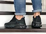 Мужские кроссовки Nike Air Max 270 React (черные) 9141, фото 4