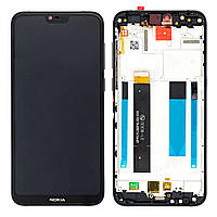 Дисплейный модуль Nokia 6.1 Plus Dual Sim (Black) Original PRC в рамке