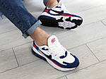 Чоловічі кросівки Nike Air Max 270 React (біло-сині з червоним) 9142, фото 4