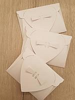 Декоративный мини конверт белый