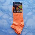 Носки женские короткие оранжевые размер 35-39, фото 2