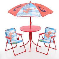 Стол и стулья и зонтик складной набор детский для пикника алюминиевый /2