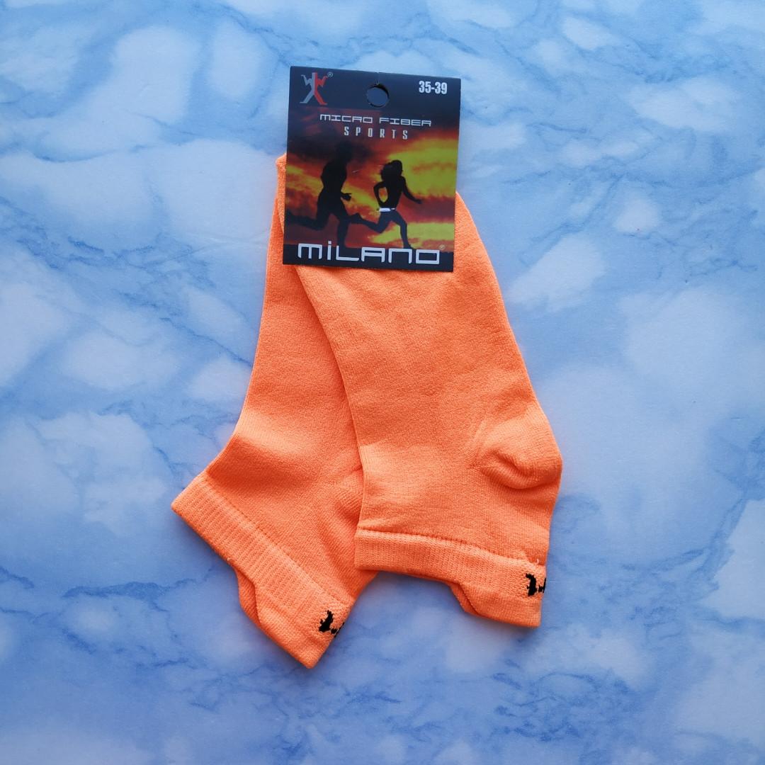 Носки женские короткие оранжевые размер 35-39