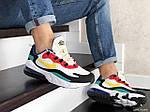 Мужские кроссовки Nike Air Max 270 React (бело-желтые с красным) 9143, фото 4