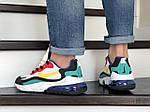 Мужские кроссовки Nike Air Max 270 React (бело-желтые с красным) 9143, фото 5