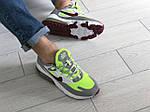 Мужские кроссовки Nike Air Max 270 React (серо-салатовые) 9144, фото 3