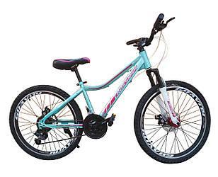 "Велосипед Crossride Molly Lady ST 24"" 13"" Бирюзовый"