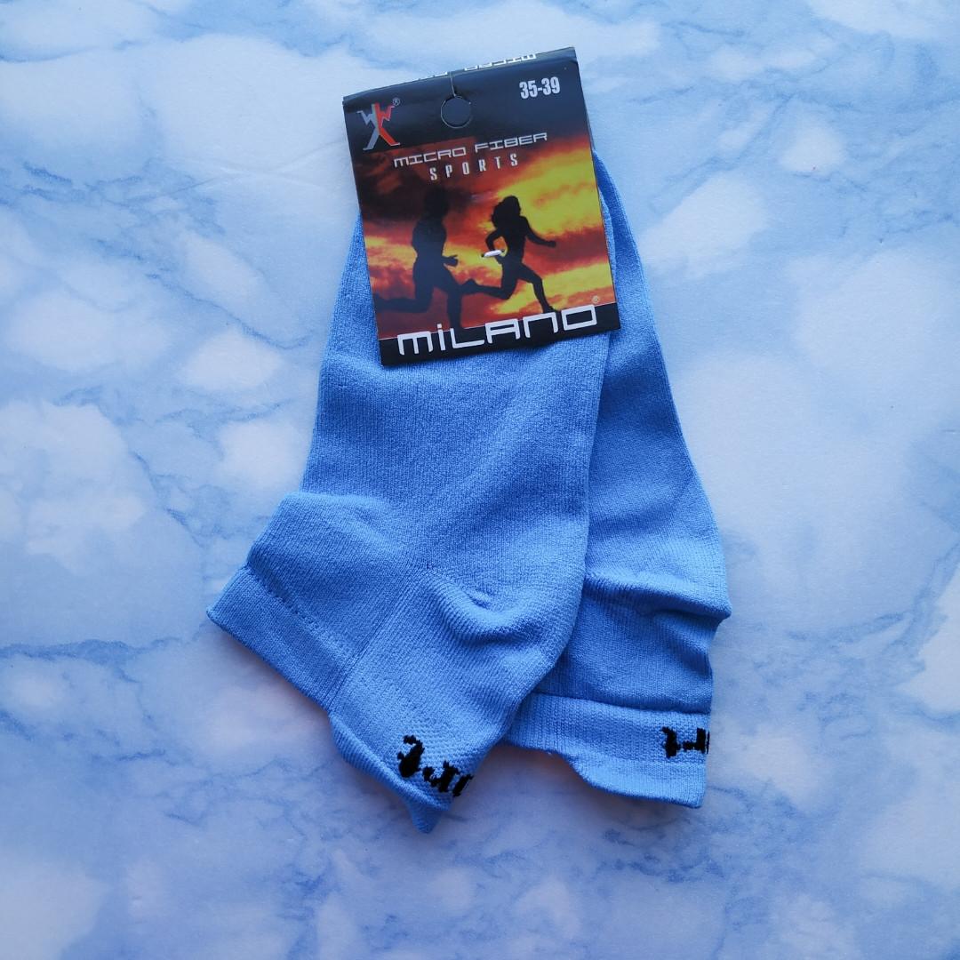 Носки женские короткие  голубые размер 35-39