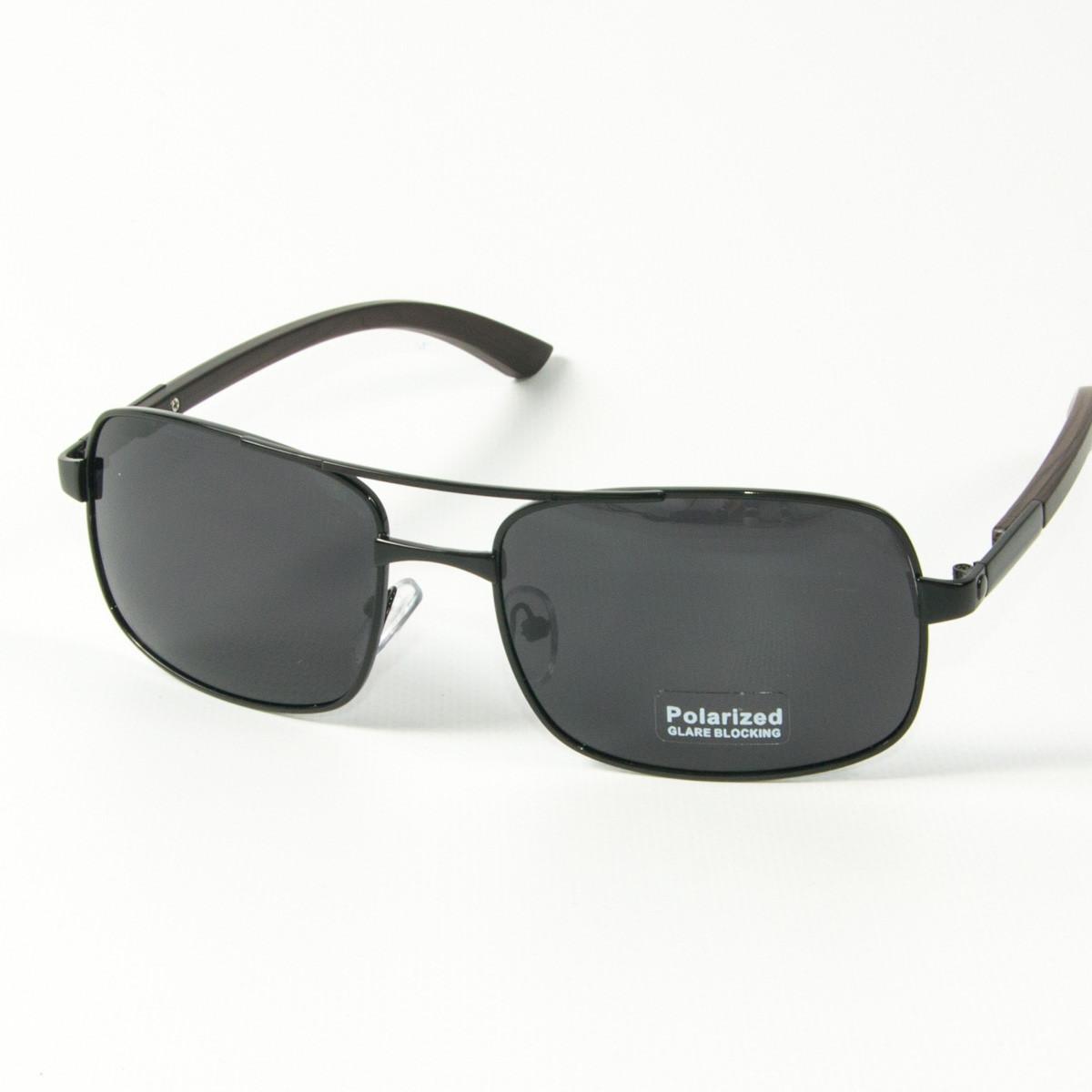 Оптом поляризационные   мужские солнцезащитные  очки  (арт. 10-C16500487/1) с черной оправой