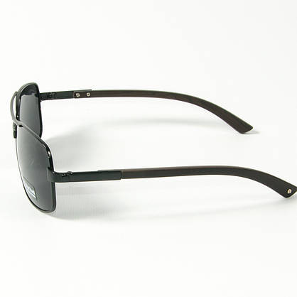 Оптом поляризационные   мужские солнцезащитные  очки  (арт. 10-C16500487/1) с черной оправой, фото 2