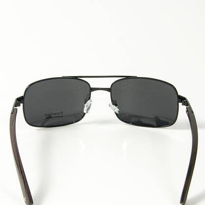 Оптом поляризационные   мужские солнцезащитные  очки  (арт. 10-C16500487/1) с черной оправой, фото 3