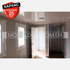 Блок модуль (6 х 2.4 м.) контейнерного типа, для жилья, офиса, на основе цельно-сварного металлокаркаса., фото 2