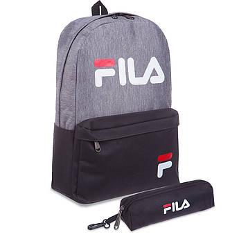 Рюкзак городской с пеналом FILA (PL, р-р 42x28x13см, цвета в ассортименте)