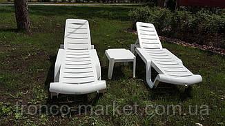 Пляжный набор на двоих : шезлонг + матрас Оксфорд 3см + столик, фото 3