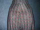 """Штани жіночі """"Ластівка"""". р. 3XL-4XL. Бамбук. Клітка., фото 4"""