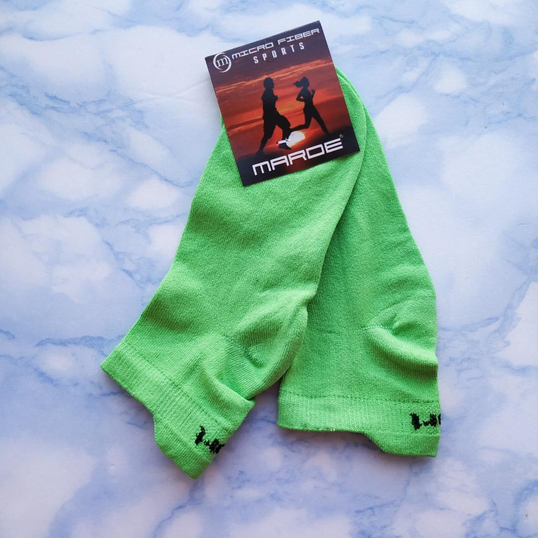 Носки женские короткие зелёные размер 35-39