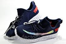 Дитячі кросівки на липучках Baas Yeezy Boost темно-сині, фото 2