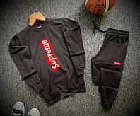 Спортивный костюм Supreme черного цвета