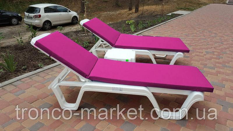 Пляжный набор на двоих : шезлонг + матрас Оксфорд 3см + столик