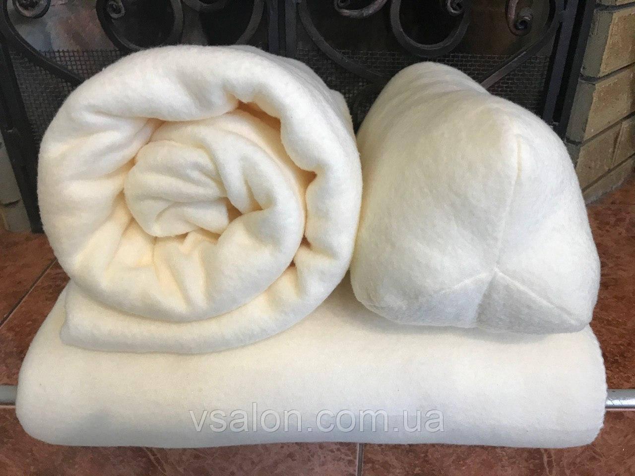 Чехол, плед и подушка флисовые - комплект на кушетку
