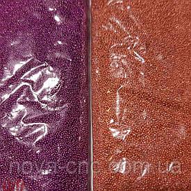 Бульонка металлизированная, присыпка, микробисер, коричневый 400 грамм