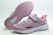 Детские кроссовки на липучке Baas Yeezy Boost, Pink\White, фото 2