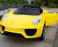 Детский электромобиль T-7622 EVA Yellow, Porsche, желтый