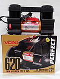 Компресор автомобільний VOIN, VL-620, 150 psi/28 Amp, 80л/ клеми/ 2-ух поршневий, фото 2