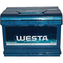 WESTA Аккумулятор 6CT-60 А (0)(1),600A (Бесплатная доставка по городу)