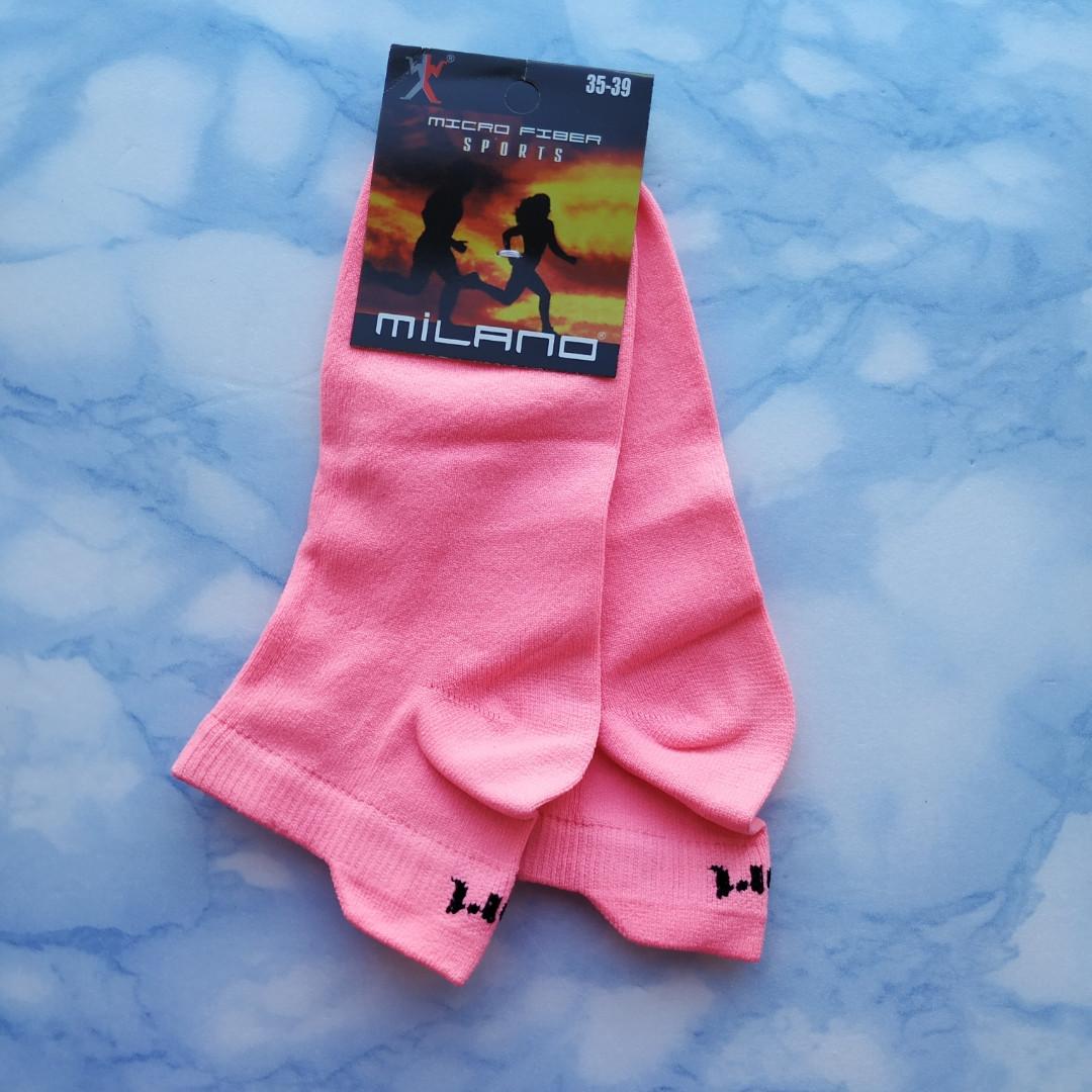 Носки женские короткие розовые размер 35-39