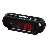 Часы сетевые 716-1 красные, 220V