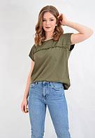 Летняя женская футболка  стрейч коттон KOTON Турция