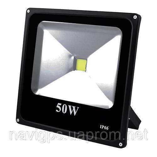 Прожектор светодиодный матричный 50W COB, IP66 (влагозащита), гладкий рефлектор - 9