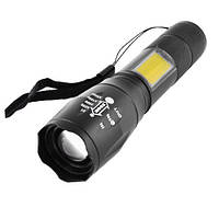Фонарь Police 1831-T6+COB, ЗУ microUSB, встроенный аккумулятор, zoom, ремешок, фото 1