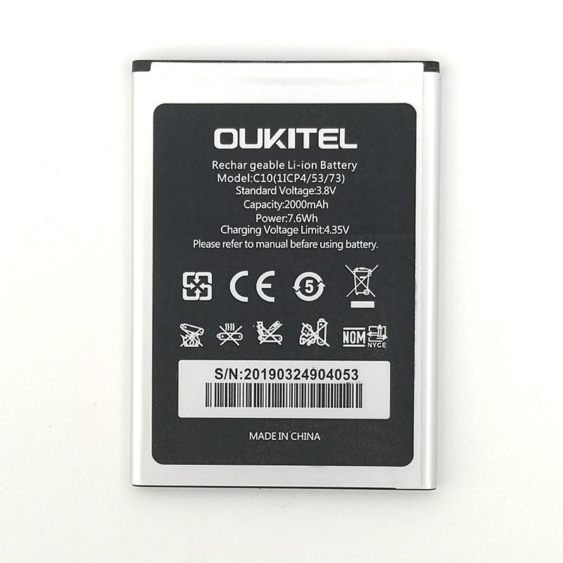 Аккумулятор акб ориг. к-во Oukitel C10, 2000mAh