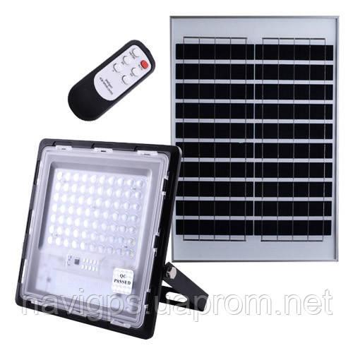 Прожектор JD-770 70W, IP67, солнечная батарея, пульт ДУ, встроенный аккумулятор, таймер, датчик света