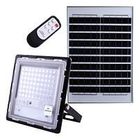 Прожектор JD-770 70W, IP67, солнечная батарея, пульт ДУ, встроенный аккумулятор, таймер, датчик света, фото 1
