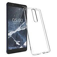 Чехол силиконовый прозрачный для Nokia 5, 0.5mm