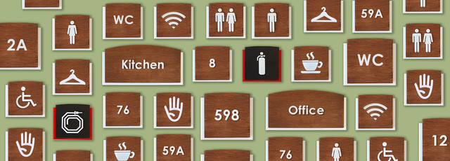 Номерки на двері, цифри на двері