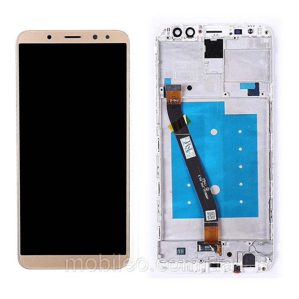 Дисплей (LCD) Huawei Mate 10 Lite | Nova 2i | RNE-L01 | RNE-L21 с тачскрином и рамкой, золотой