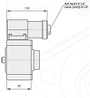 Коробка отбора мощности КОМ EATON FS/ FSO / H / V / 6109 - 6209 - 8209 (левое вращение), фото 8