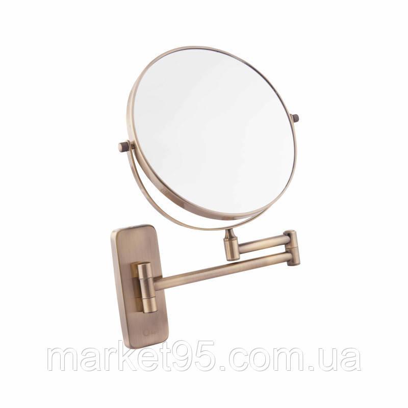 Дзеркало косметичне в бронзі