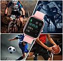 Фитнес браслет с измерением пульса и давления Smart band Lemfo P8 Pink, фото 5