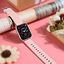 Фитнес браслет с измерением пульса и давления Smart band Lemfo P8 Pink, фото 6