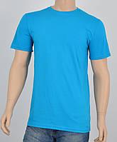 Мужская однотонная футболка 100% х/б бирюза, фото 1