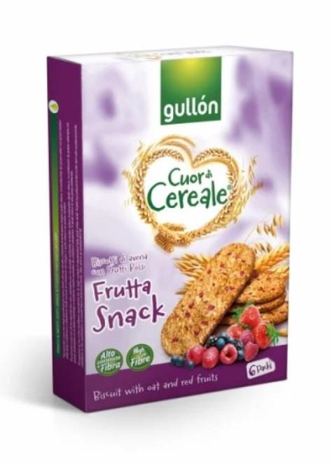 Печиво GULLON Cuor di Cereale Frutta Snack, 240г