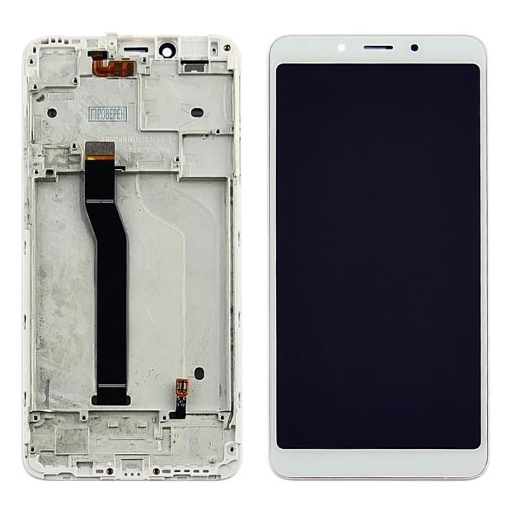 Дисплей (LCD) Xiaomi Redmi 6 | Redmi 6A с тачскрином и рамкой, белый