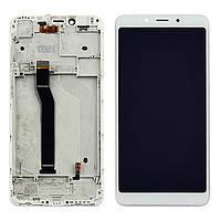 Дисплей (LCD) Xiaomi Redmi 6 | Redmi 6A с тачскрином и рамкой, белый, фото 1