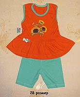 Комплекты детские на девочку, хлопок  28 размер (разные цвета), фото 1